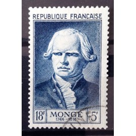 France - Célébrités XII au XXème Siècle - Gaspard Monge 18f+5f bleu (Superbe n° 948) Obl - Cote 13,50€ - Année 1953 - N15093