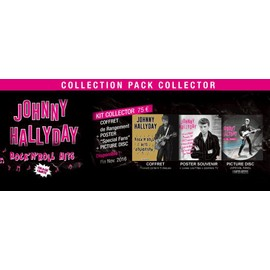 JOHNNY HALLYDAY Rock'n'Roll Hits KIT collector coffret + picture disc + poster