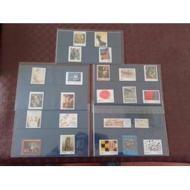 LOTS 5 carnets timbres artistiques de france- laposte