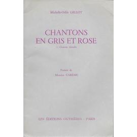 chantons en gris et rose - 11 chansons chorales - poèsie de maurise carême