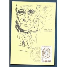 FRANCE CARTE MAX PREMIER JOUR FDC  timbre N° 1881  MAX JACOB   / quimper 22 / 07 /1976