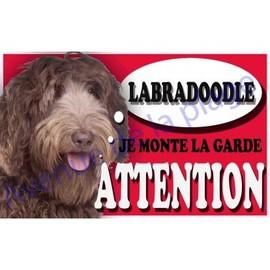 Image Plaque Attention Je Monte La Garde Labradoodle