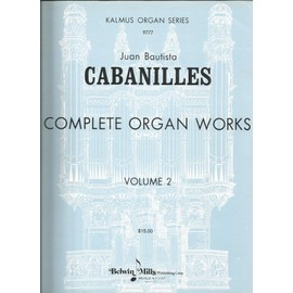 Cabanilles Oeuvres pour orgue