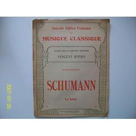 Le Lotus de R.Schumann publiée sous la direction artistique de Vincent D'Indy.