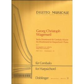 Georg Christoph Wagenseil 6 divertimenti pour clavier op 2 en 2 vol.