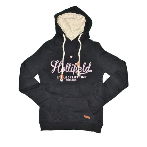 strong Hollifield  strong  sweat capuche col echarpe femme hfs57 ... 54ac03a3f3a