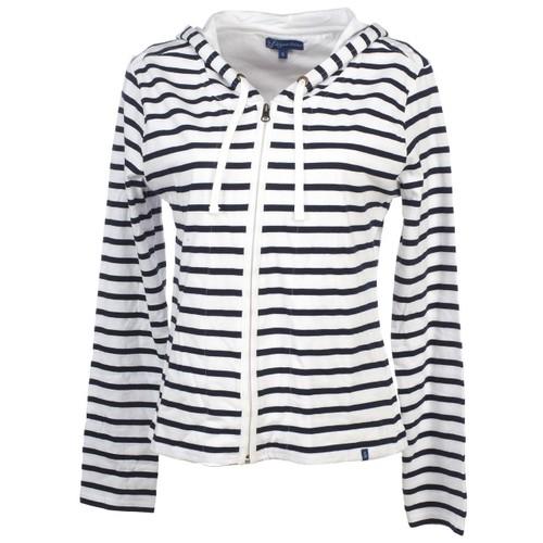 Vestes sweats zippés capuche elegance oceane aileron blanc  strong veste   strong  fed87ab61ef