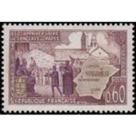 Timbre France Oblitere N° 1562 Enclave Papale De Valreas Stamp France: Oblitérés