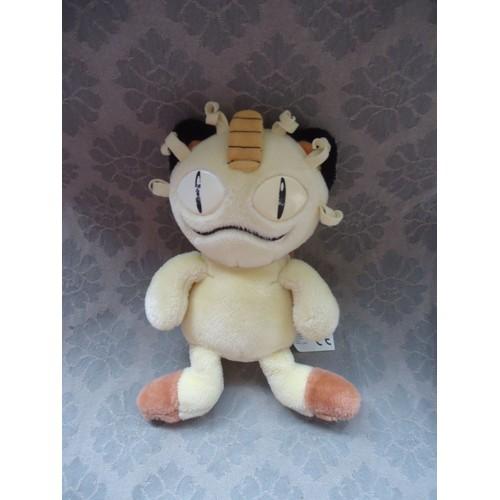 Chat miaouss en peluche petit pokemon nintendo 24 cm 1999