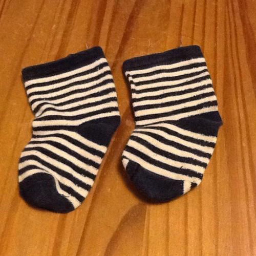 Paires chaussette bebe taille 1820 bleu et blanche