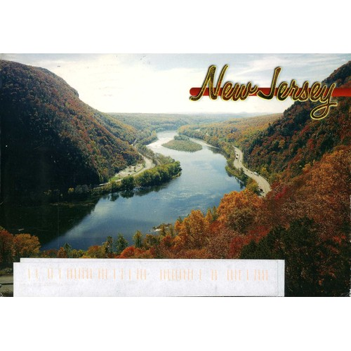 Carte postale du new jersey etats unis the delaware water <strong>gap</strong>