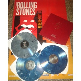 THE ROLLING STONES WALDBUHNE INTROUVABLE COFFRET 3 VINYLES MARBRES+POSTER 200 EX