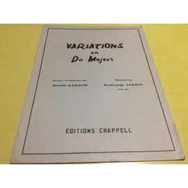Recueil de partition : VARIATIONS EN DO MAJEUR (revues et doigtées par Sylvain DAGOSTO )