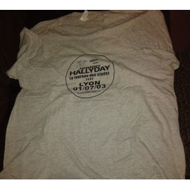 JOHNNY HALLYDAY TRES RARE TEE SHIRT CREW XXL LYON TOURNEE 2003