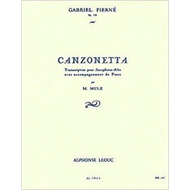 canzonetta pour saxophone alto avec accompagnement de piano