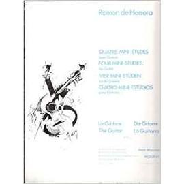 QUATRE MINI-ETUDES pour Guitare [Partition] by Ramon de Hererra