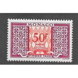 MONACO ANNée 1946/1957 timbre taxe n° 38A NEUF**
