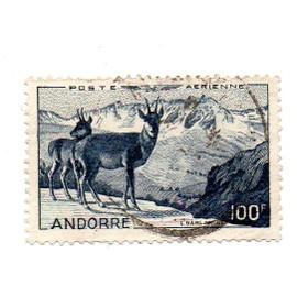 Andorre- 1 timbre oblitéré poste aérienne Paysage- N°A1