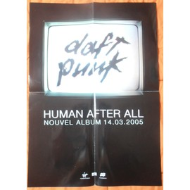 DAFT PUNK HUMAN AFTER ALL PLAN Média / POSTER FORMAT 60 X 42
