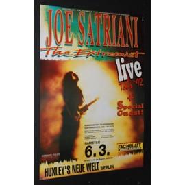 Joe SATRIANI - The Extremist - 1992 Concert Tour Poster - AFFICHE / POSTER envoi en tube - 59x84cm