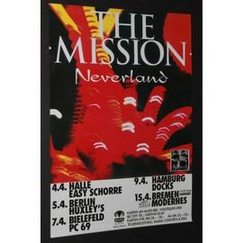 The MISSION - Neverland 1995 Concert Tour - AFFICHE / POSTER envoi en tube - 59x84cm