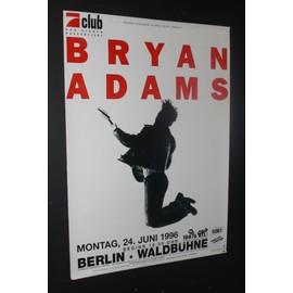 Bryan ADAMS - 1996 - Berlin - AFFICHE / POSTER envoi en tube - 59x84cm