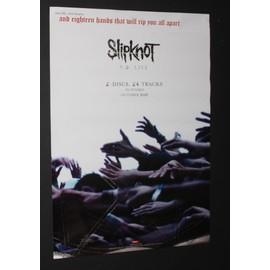 Slipknot - 9,0 live - AFFICHE / POSTER envoi en tube - 42x60cm