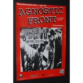 Agnostic Front - AGNOSTIC FRONT POWERHOUSE 1998 EURO ORIG ALBUM TOUR PUNK CONCERT GIG POSTER - AFFICHE / POSTER envoi en tube - 59x84cm