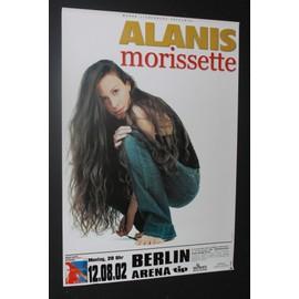 Alanis Morissette - 'Under Rug Swept' 2002 Concert Tour Poster BERLIN - AFFICHE / POSTER envoi en tube - 59x84cm