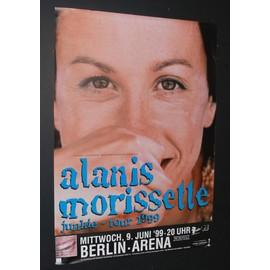 Alanis Morissette - Junkie Tour 99' Berlin - AFFICHE / POSTER envoi en tube - 59x84cm