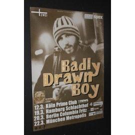 Badly Drawn Boy - German Tour 2001 - AFFICHE / POSTER envoi en tube - 59x84cm