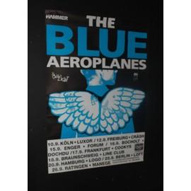 Blue Aeroplanes - Swagger 1990 Original Concert Tour Dates Poster - AFFICHE / POSTER envoi en tube - 59x84cm