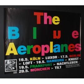 Blue Aeroplanes - Life Model 1994 Original Concert Tour Dates Poster - AFFICHE / POSTER envoi en tube - 59x84cm