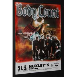 Body Count - Violent Demise 1997 Original Concert Tour Poster - AFFICHE / POSTER envoi en tube - 59x84cm