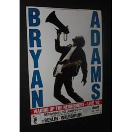 Bryan Adams - Waking Up The Neighbours Live 1992 Original Concert Tour Poster - AFFICHE / POSTER envoi en tube - 59x84cm