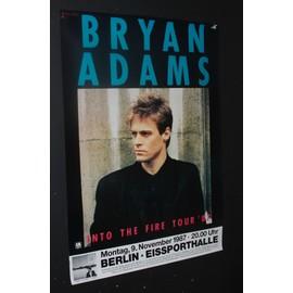 Bryan Adams - Into The Fire 1987 Original Concert Tour Poster - AFFICHE / POSTER envoi en tube - 59x84cm