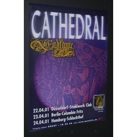 Cathedral - Endtyme Tour Dates Poster 2001 - AFFICHE / POSTER envoi en tube - 59x84cm
