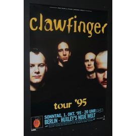 Clawfinger - Berlin 1995 - AFFICHE / POSTER envoi en tube - 59x84cm