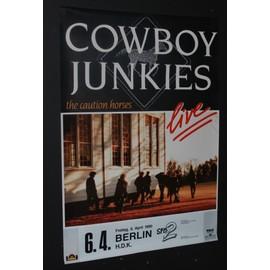 Cowboy Junkies - The Caution Horses 1990 Concert - AFFICHE / POSTER envoi en tube - 59x84cm