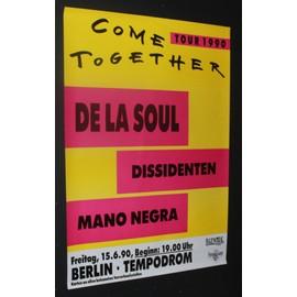 De La Soul - Mano Negra + Dissidenten - Come Together 1990 Original Concert Tour Poster Berlin - AFFICHE / POSTER envoi en tube - 59x84cm