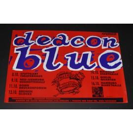 Deacon Blue - Fellow Hoodlums Original Tour Dates Poster 1991 - AFFICHE / POSTER envoi en tube - 59x84cm