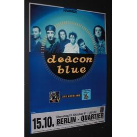 Deacon Blue - Live Hoodlums 1991 Original Concert Tour Poster Berlin - AFFICHE / POSTER envoi en tube - 59x84cm