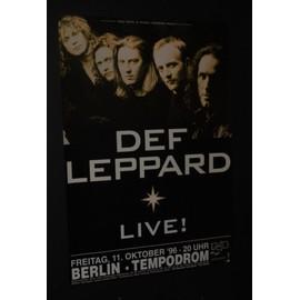 Def Leppard - Live! 96' - AFFICHE / POSTER envoi en tube - 59x84cm