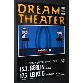 Dream Theater - Falling Into Infinity 1997 Original Concert Tour Dates Poster  - AFFICHE / POSTER envoi en tube - 59x84cm
