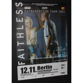 Faithless - The Outrospective Tour 2001 Original Tour Dates Poster  - AFFICHE / POSTER envoi en tube - 59x84cm