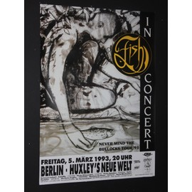 Fish  - Never Mind The Bullock 1993 Original Concert Tour Poster Berlin - AFFICHE / POSTER envoi en tube - 59x84cm