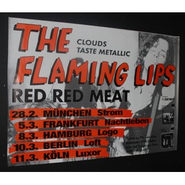 Flaming Lips - The Flaming Lips + Red Red Meat - Cloud Taste Metallic 1995 Original Tour Dates Poster  - AFFICHE / POSTER envoi en tube - 59x84cm