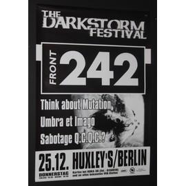 Front 242  - Darkstorm Festival Original Concert Tour Poster-2009 - AFFICHE / POSTER envoi en tube - 59x84cm
