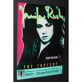 Jennifer Rush - Heart Over Mind Tour - AFFICHE / POSTER envoi en tube - 59x84cm