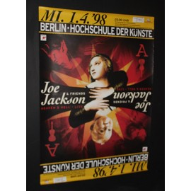 Joe Jackson - Berlin Heaven & Hell Tour 1998 - AFFICHE / POSTER envoi en tube - 59x84cm